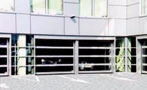 Промышленные гаражные панорамные ворота